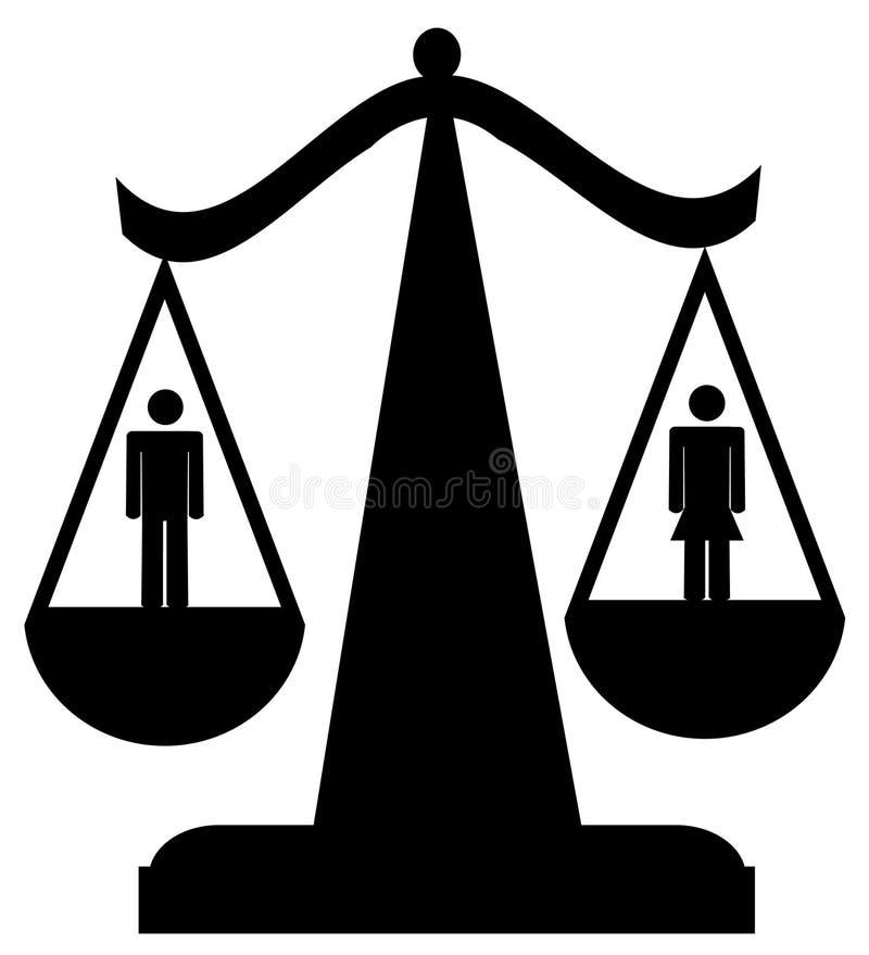 Igualdade sexual ilustração royalty free