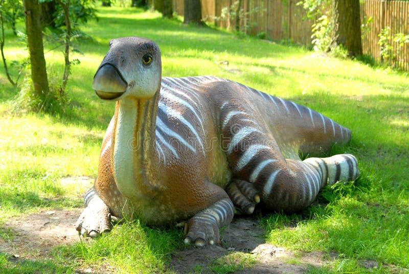 Iguanodon bernissartensis stock image