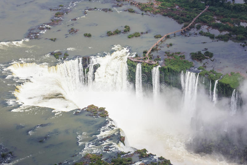 Iguassu cade dall'aria Iguassu, Foz fa Iguacu, Brasile fotografia stock