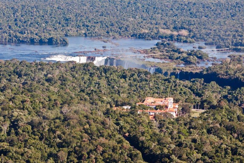Iguassu cai garganta Argentina e Brasil foto de stock royalty free