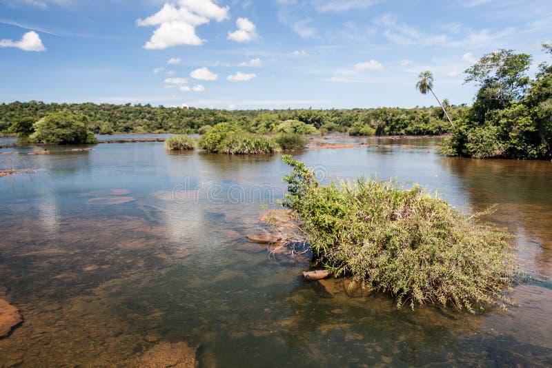 Iguassu Fluss lizenzfreies stockbild