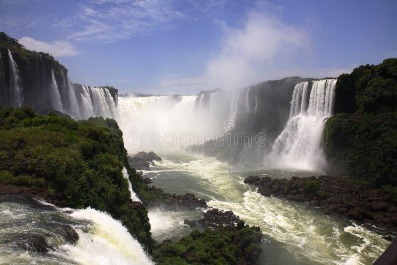 Iguassu (Iguazu; Iguaçu) Fall stockbild