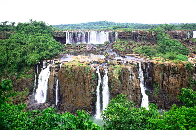 Download Iguassu (Iguazu; Igua�u) Falls - Large Waterfalls Stock Photo - Image: 3833440