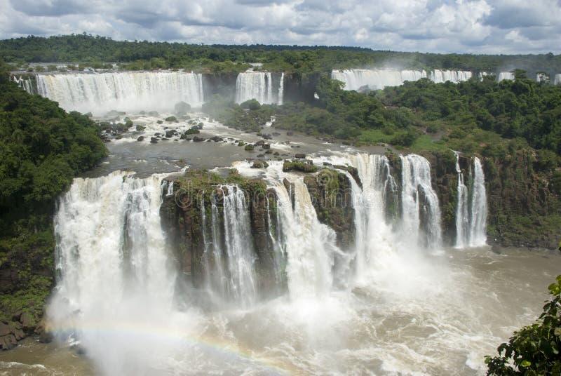 Iguassu Spada Argentyna od Brazylia obrazy stock