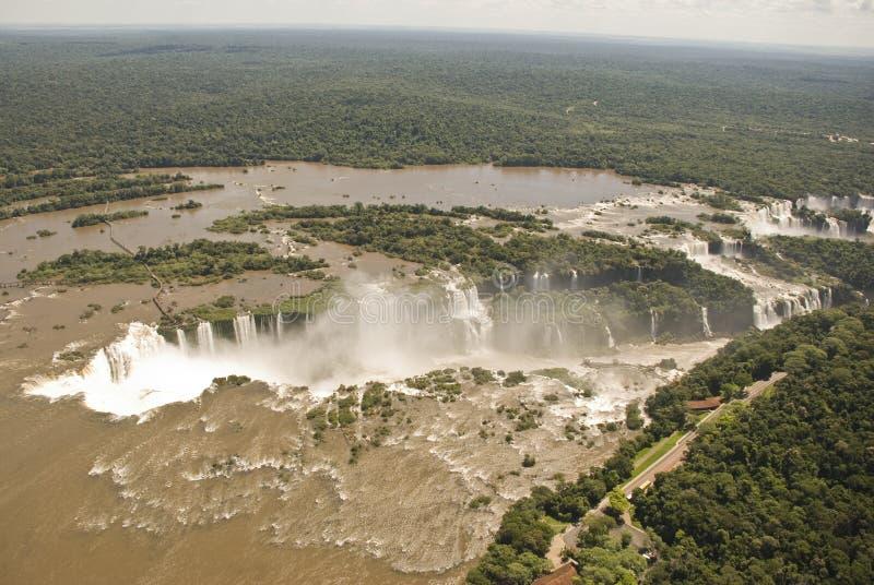 Iguassu tombe vue aérienne photographie stock