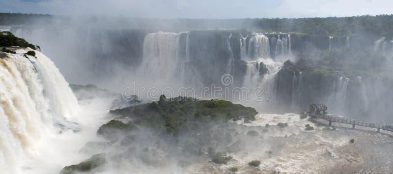 Iguazu, Iguazu Falls, waterfall, Garganta del Diablo, Devil`s Throat, Argentina, South America. Iguazu, 13/11/2010: view of the spectacular Iguazu Falls royalty free stock photography