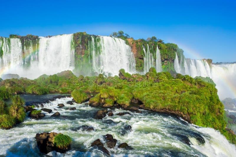 Iguazu Falls, on the border of Argentina and Brazil royalty free stock photo