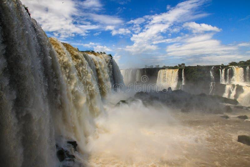 Iguazu Falls on the border of Brazil, Argentina and Paraguay royalty free stock photo
