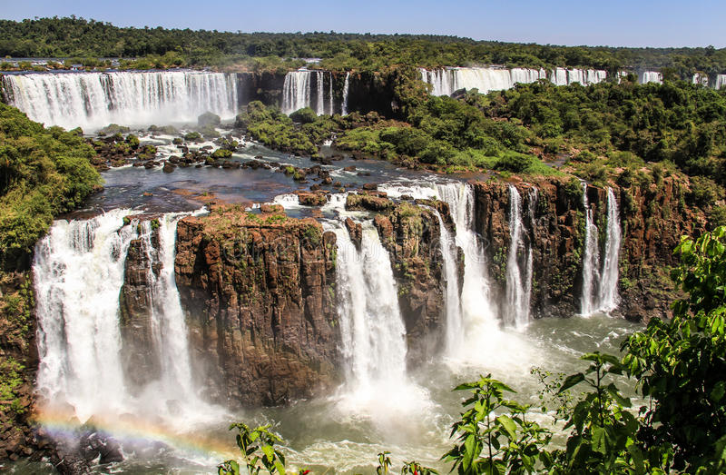 Iguazu Falls brasiliansk sida, Parana, Brasilien royaltyfri bild