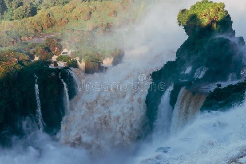 Iguazu Falls i det Argentina Misiones landskapet fotografering för bildbyråer