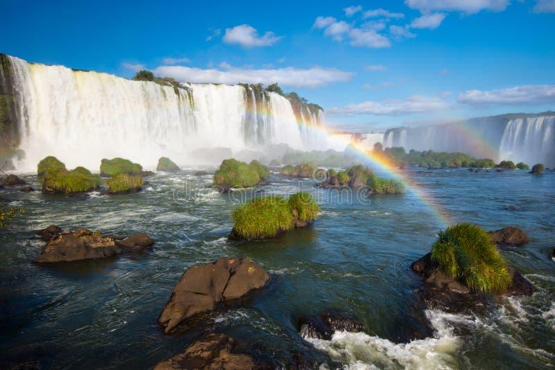 Iguazu Falls are waterfalls of the Iguazu River - Brazil. royalty free stock image