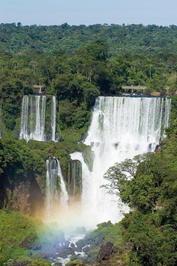Iguazu- Fallsargentinier-Seite stockfotografie