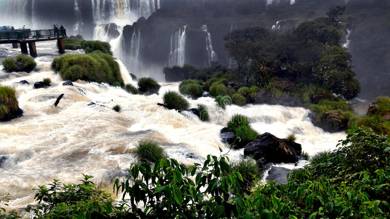 Iguazu ((Iguassu; Iguaçu)) Falls, Brazil stock photo