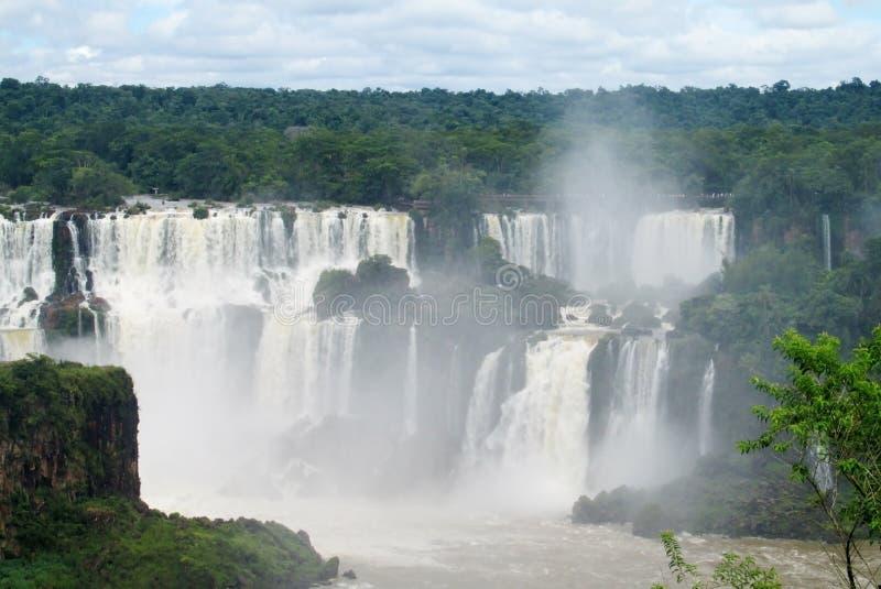 Iguazu (Iguassu) nedgångar arkivfoto