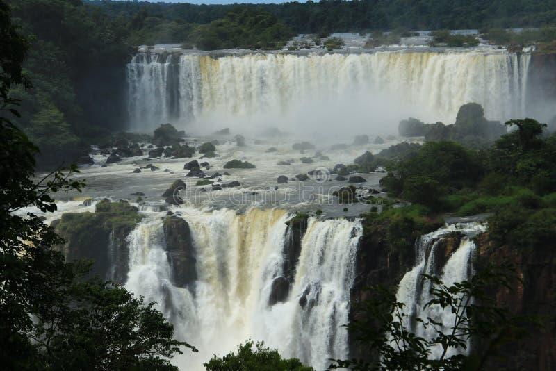 Iguazu valt - bekijk van de kant van Argentinië royalty-vrije stock foto