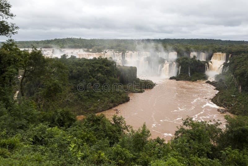 Iguazu valt veiw van Brazilië stock afbeeldingen