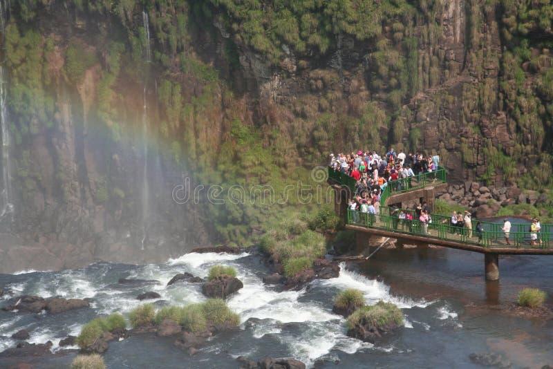 Iguazu Wasser-Fälle lizenzfreies stockfoto
