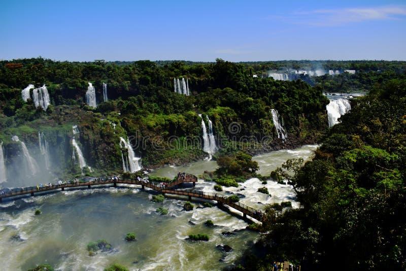 Iguazu Wasserfälle lizenzfreie stockbilder