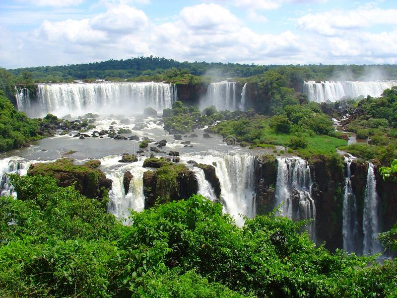 Iguazu waterfalls stock photography
