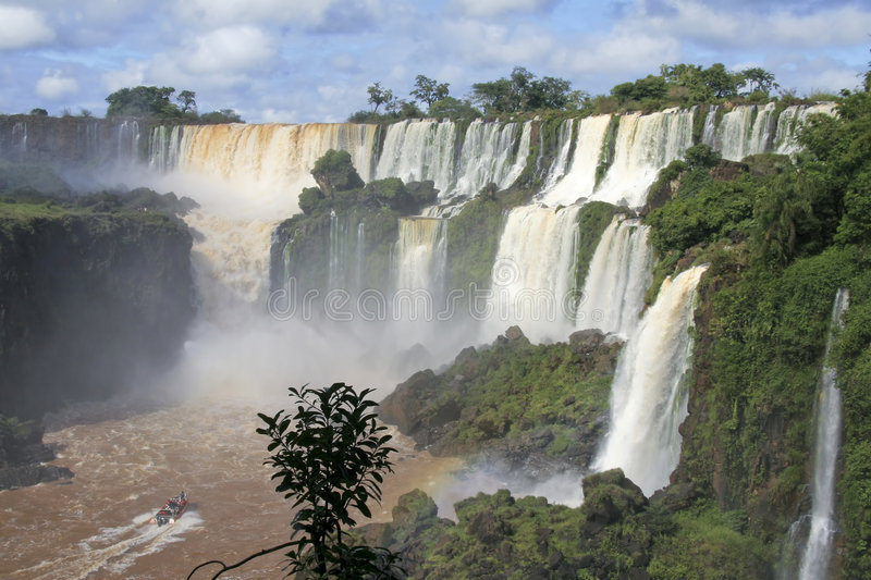 Iguazu waterfalls in Argentina royalty free stock image