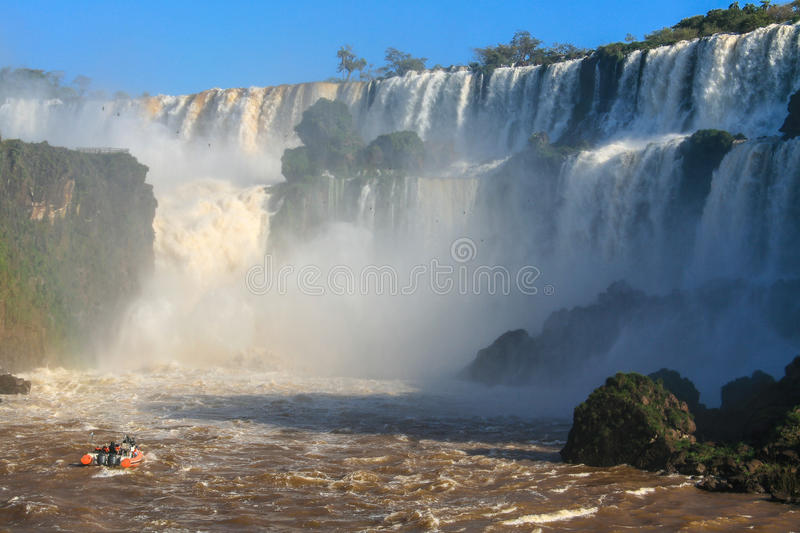 Download Iguazu Waterfalls. View From Argentina Stock Photo - Image of majestic, natural: 83714102