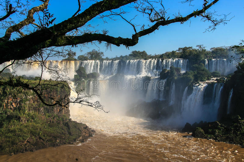 Download Iguazu Waterfalls. View From Argentina Stock Image - Image of waterfall, natural: 83714173