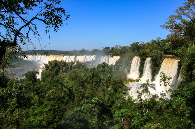 Download Iguazu Waterfalls. View From Argentina Stock Image - Image of river, rain: 83714333