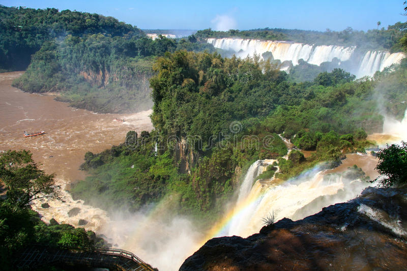 Download Iguazu Waterfalls. View From Argentina Stock Photo - Image of national, travel: 83714350