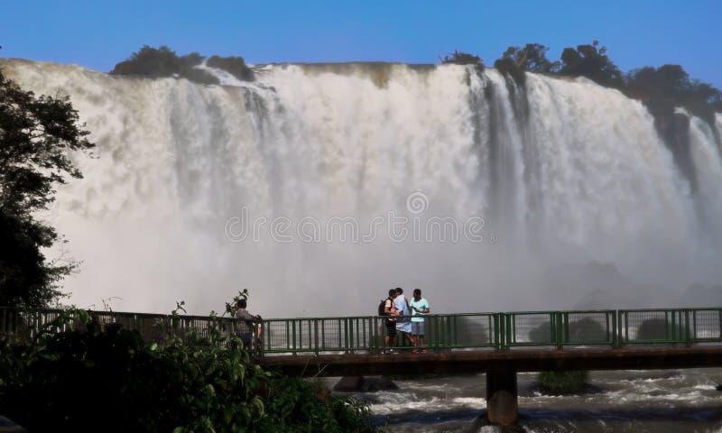 Iguazudalingen Brazilië Argentinië Paraguay stock foto