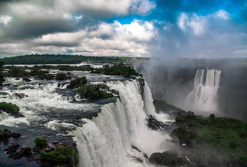 Iguazudalingen, Braziliaanse kant royalty-vrije stock foto's