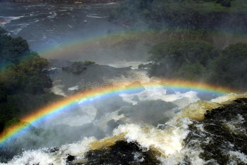 Iguazudalingen van Argentijnse kant royalty-vrije stock fotografie