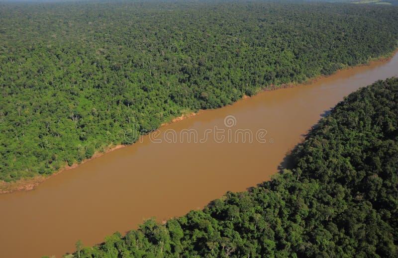 Iguazurivier. royalty-vrije stock foto's