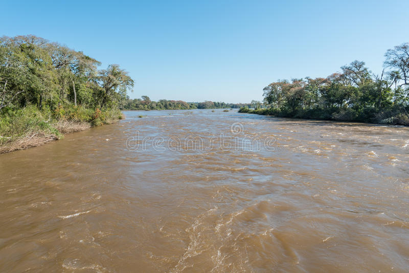 Iguazurivier in Misiones-provincie, Argentinië stock foto's
