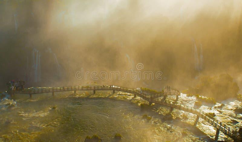 Iguazuwatervallen stock fotografie