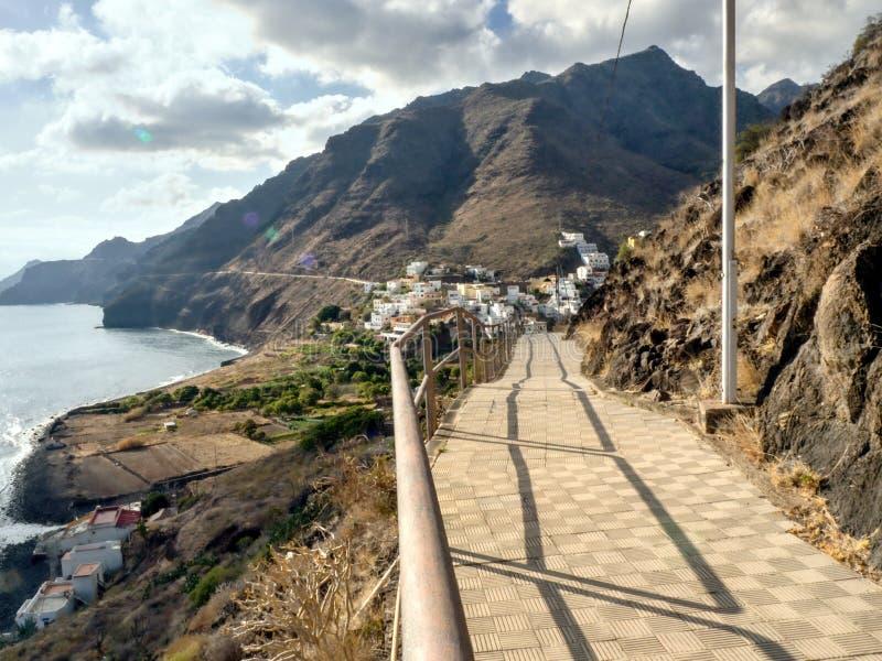 Igueste De San Andres piękny miejsce głęboko w północnym wschodzie Tenerife fotografia royalty free