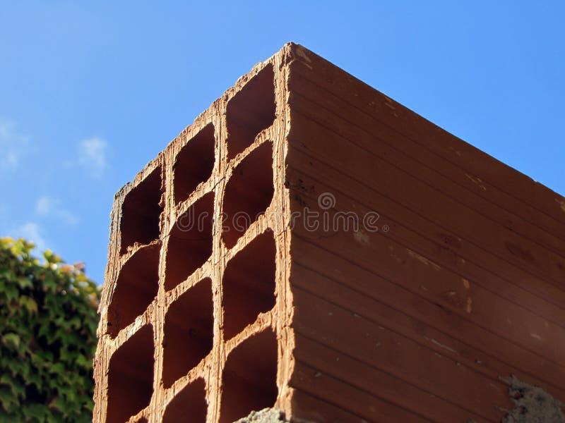 Ihålig tegelstenbyggnad arkivbild