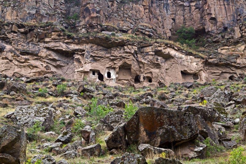 Ihlara-Tal in Cappadocia, die Türkei stockfotografie