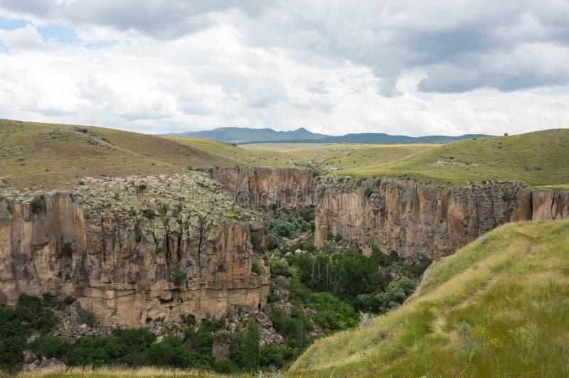 Ihlara-Tal in Cappadocia, die Türkei lizenzfreie stockfotos