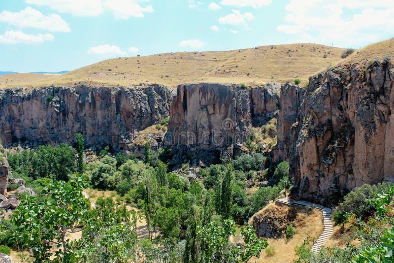 Ihlara-Tal Peristrema-Kloster in Cappadocia, die Türkei stockfotografie