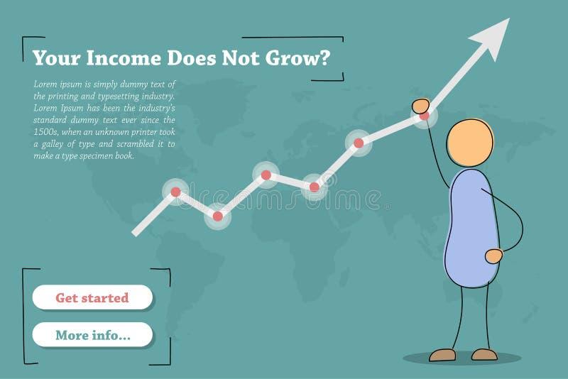 Ihr Einkommen wächst nicht - Fahne lizenzfreie abbildung