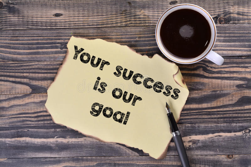 Ihr Erfolg ist unser Ziel stockbild