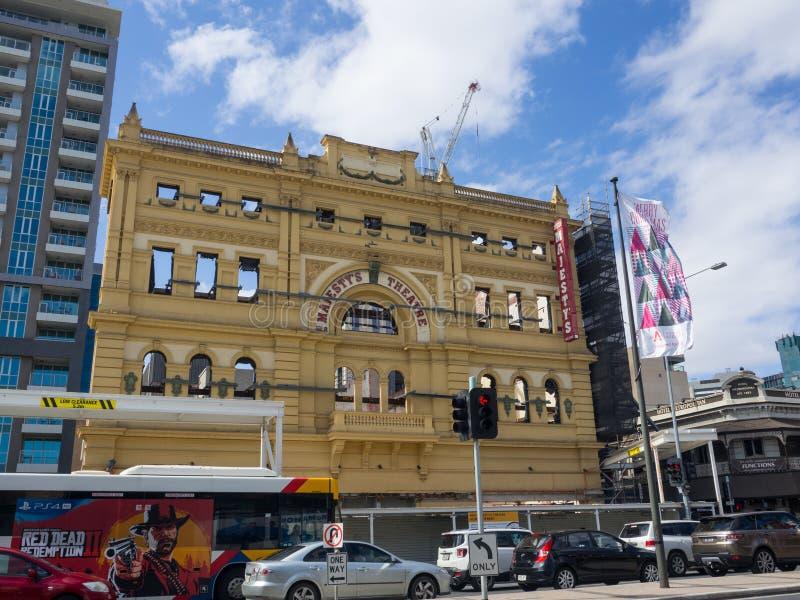 Ihr Majesty's-Theater-Erneuerungs-Projekt nannte ursprünglich Tivoli, das im erneuerten Theater wieder installiert wird lizenzfreie stockfotografie