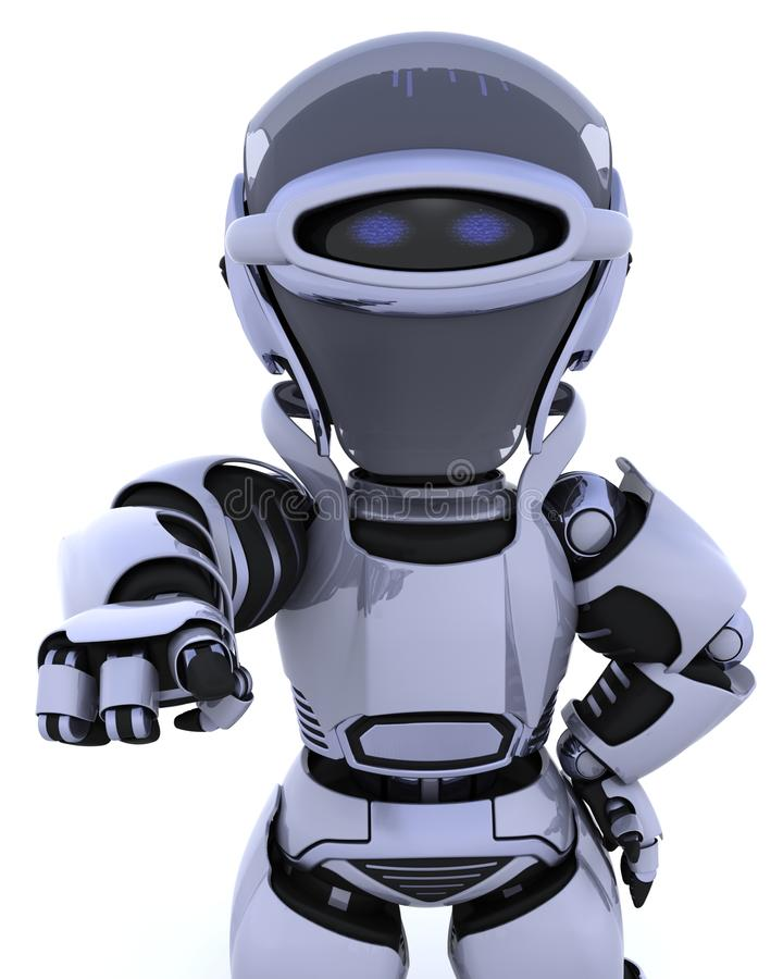 Ihr Roboter benötigt Sie lizenzfreie abbildung