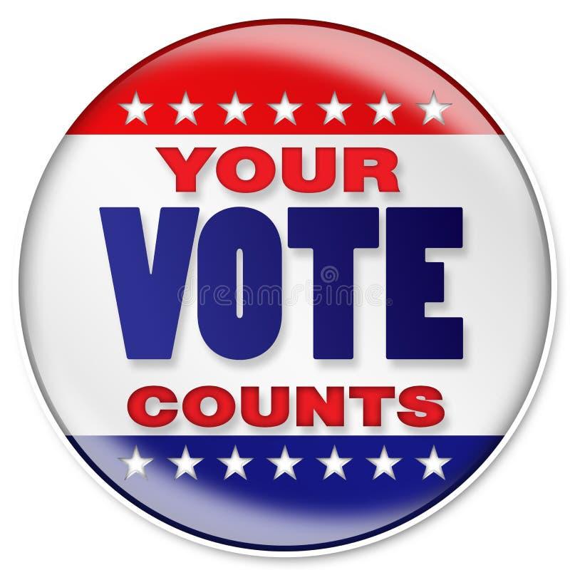 Ihre Abstimmung stock abbildung