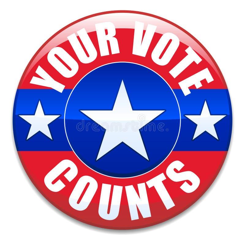 Ihre Abstimmung-Zählimpulse lizenzfreie abbildung