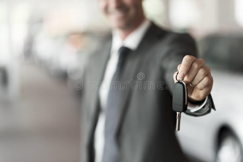 Ihre Neuwagenschlüssel lizenzfreie stockbilder