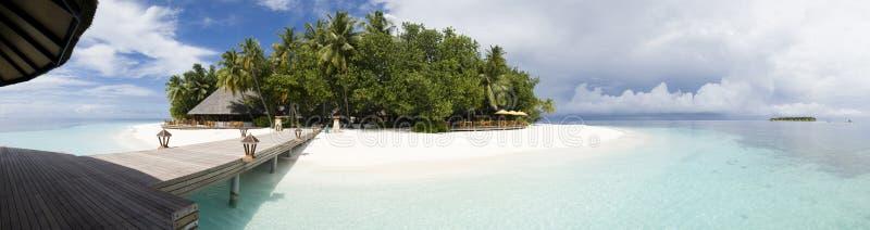 ihuru wyspy Maldives panoramiczny widok obrazy stock