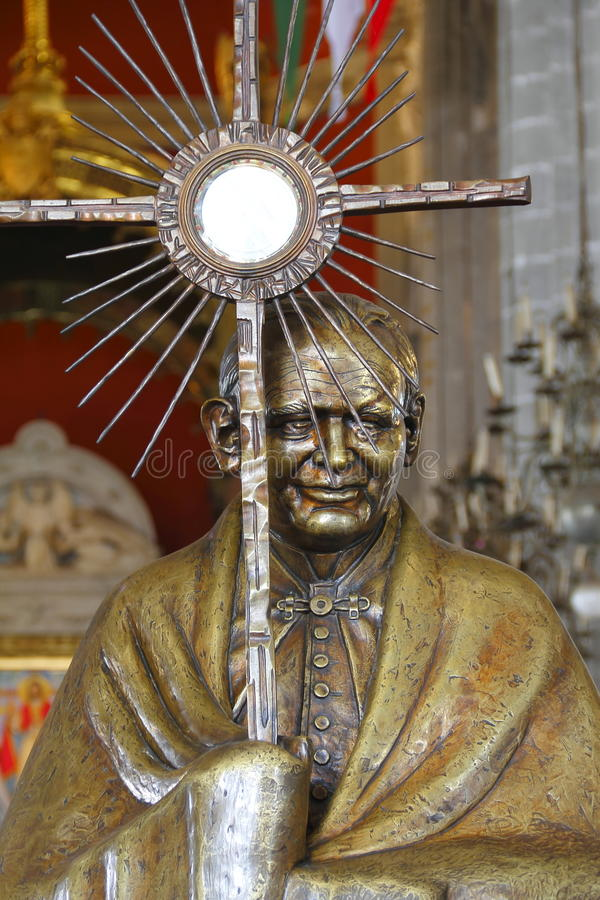 ii约翰・保罗教皇雕象 免版税库存照片