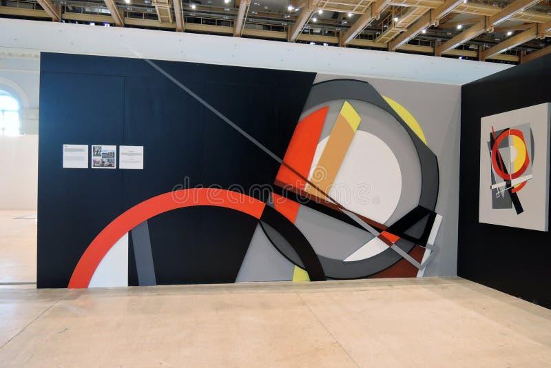 II街道艺术比安奈尔ArtMosSphere在莫斯科 免版税库存照片