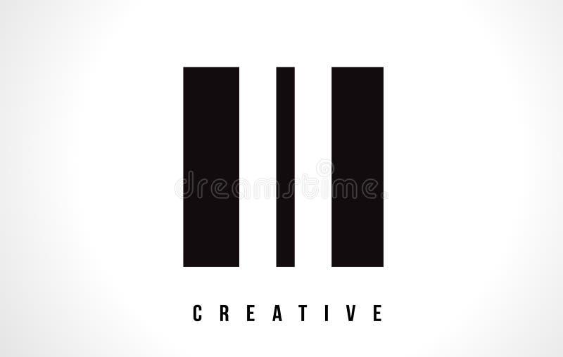 II Я дизайн логотипа письма I белый с черным квадратом иллюстрация штока